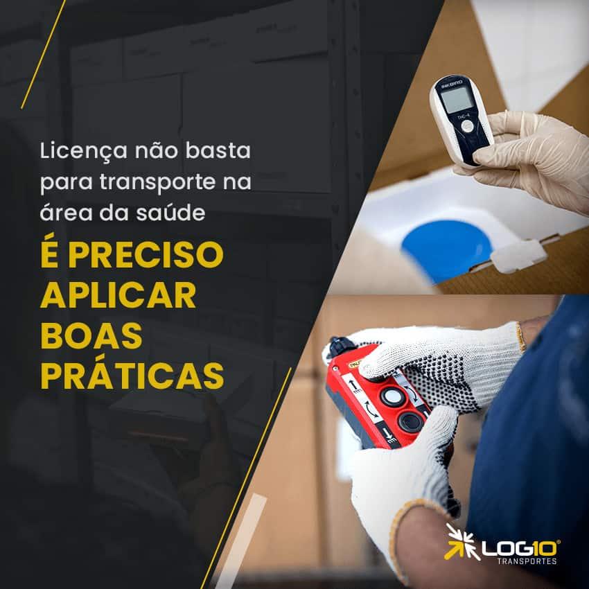Transporte de material biológico para laboratório de análises clínicas